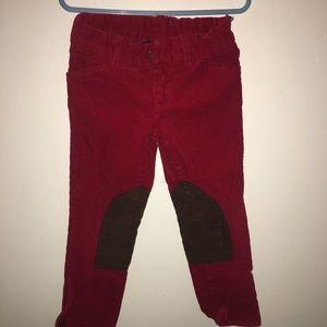 Girl red corduroy Ralph Lauren riding pants 4T